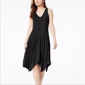 Inc Sleeveless Asymmetrical Hem Flare Dress Small